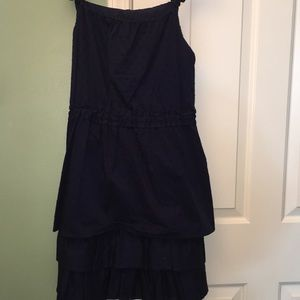 Dresses & Skirts - Beautiful dark blue layered polka dotted dress